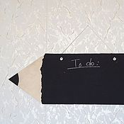 Для дома и интерьера ручной работы. Ярмарка Мастеров - ручная работа Двухсторонняя грифельная доска в виде карандаша.. Handmade.