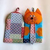 Для дома и интерьера handmade. Livemaster - original item Tack - mitten for kitchen cat-gentleman (set). Handmade.