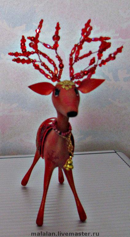 """Миниатюра ручной работы. Ярмарка Мастеров - ручная работа. Купить Новогодняя игрушка """"Оленёнок Бэмби"""". Handmade. Олененок, необычный подарок"""