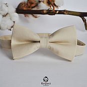 Аксессуары handmade. Livemaster - original item Tie beige / butterfly tie for wedding beige ivory. Handmade.