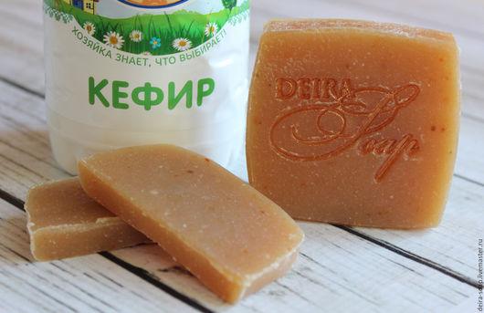 Кефирный мыло-шампунь с Ментолом против перхоти натуральный с нуля