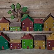 Для дома и интерьера ручной работы. Ярмарка Мастеров - ручная работа Домики с улицы Вишневой. Handmade.