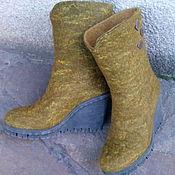 """Обувь ручной работы. Ярмарка Мастеров - ручная работа Валенки Эко сапоги """"Лесные"""". Handmade."""