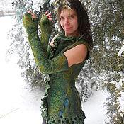 Одежда ручной работы. Ярмарка Мастеров - ручная работа Жилет и митенки Фея снежного леса. Handmade.