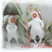 Куклы и игрушки ручной работы. Ярмарка Мастеров - ручная работа Ватные игрушки на елку серия Ватный детский сад. Handmade.