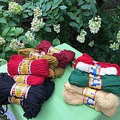 Винтаж handmade. Livemaster - original item Thread, yarn 100% wool! 50 gr. and 100 gr. Hanks, Holland. Handmade.