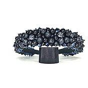 Украшения handmade. Livemaster - original item A rim made of beads and stones (Agate, Shungite, Cat`s eye). Handmade.