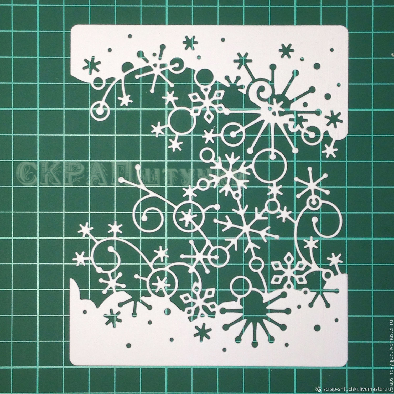Трафареты для новогодних открыток ручной работы