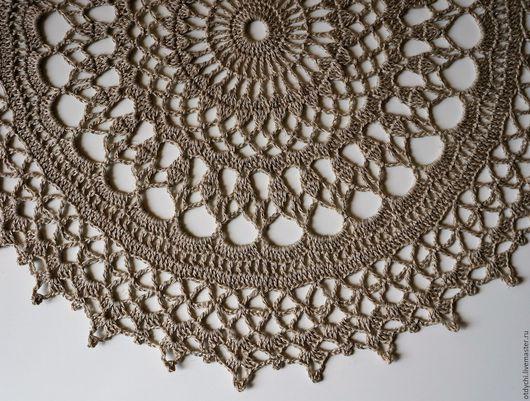 Текстиль, ковры ручной работы. Ярмарка Мастеров - ручная работа. Купить ЗАГАДКА салфетка декоративная. Handmade. Цвет льна