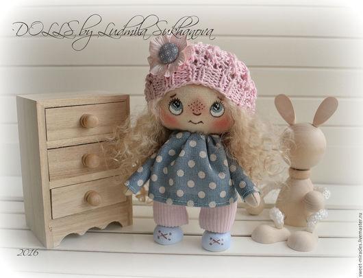 Коллекционные куклы ручной работы. Ярмарка Мастеров - ручная работа. Купить Кукла Домовушка. Handmade. Бледно-розовый, кукла в подарок