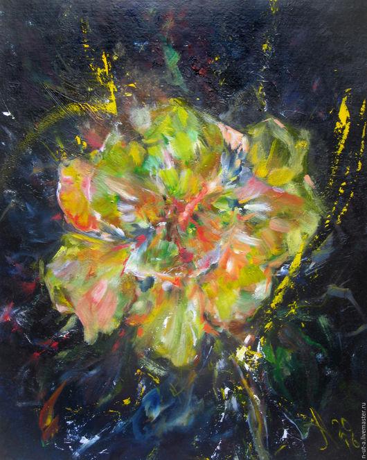 Картины цветов ручной работы. Ярмарка Мастеров - ручная работа. Купить Юго-Восточный ветер. Handmade. Желтый, цветок, Живопись