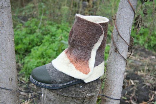 Обувь ручной работы. Ярмарка Мастеров - ручная работа. Купить Трансформер. Handmade. Валенки, валенки с рисунком, обувь, шерсть