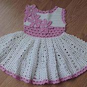 """Работы для детей, ручной работы. Ярмарка Мастеров - ручная работа Платье """"Бело-розовый зефир"""". Handmade."""