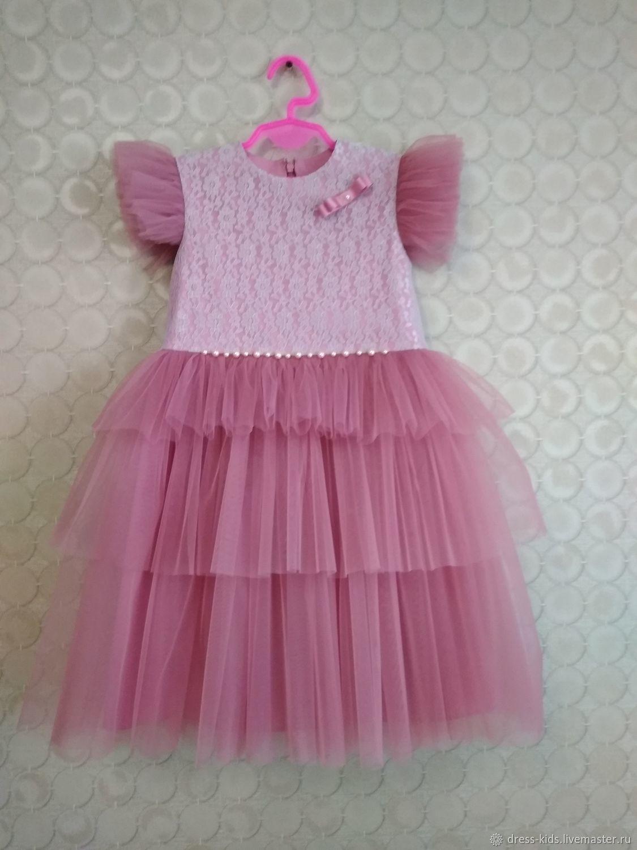 """Нарядное платье """"Пыльная роза"""""""