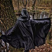 """Одежда ручной работы. Ярмарка Мастеров - ручная работа Плащ """"Бархат ночи"""" чёрный с застёжкой. Handmade."""