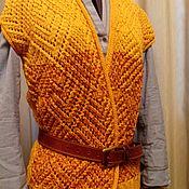 Одежда ручной работы. Ярмарка Мастеров - ручная работа Жилет Шафран. Handmade.