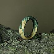 Украшения ручной работы. Ярмарка Мастеров - ручная работа Кольцо из Стабилизированного дерева. Handmade.