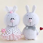 Куклы и игрушки handmade. Livemaster - original item Bunnies the Bride and Groom. Handmade.
