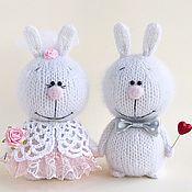 Мягкие игрушки ручной работы. Ярмарка Мастеров - ручная работа Зайки Жених и Невеста. Handmade.