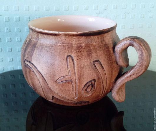 """Кружки и чашки ручной работы. Ярмарка Мастеров - ручная работа. Купить Чашка """"Об огне"""". Handmade. Коричневый, корея, для чая"""