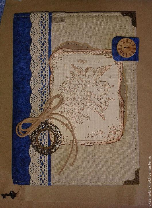 Блокноты ручной работы. Ярмарка Мастеров - ручная работа. Купить Блокнот ручной работы По мотивам Санторини. Handmade.