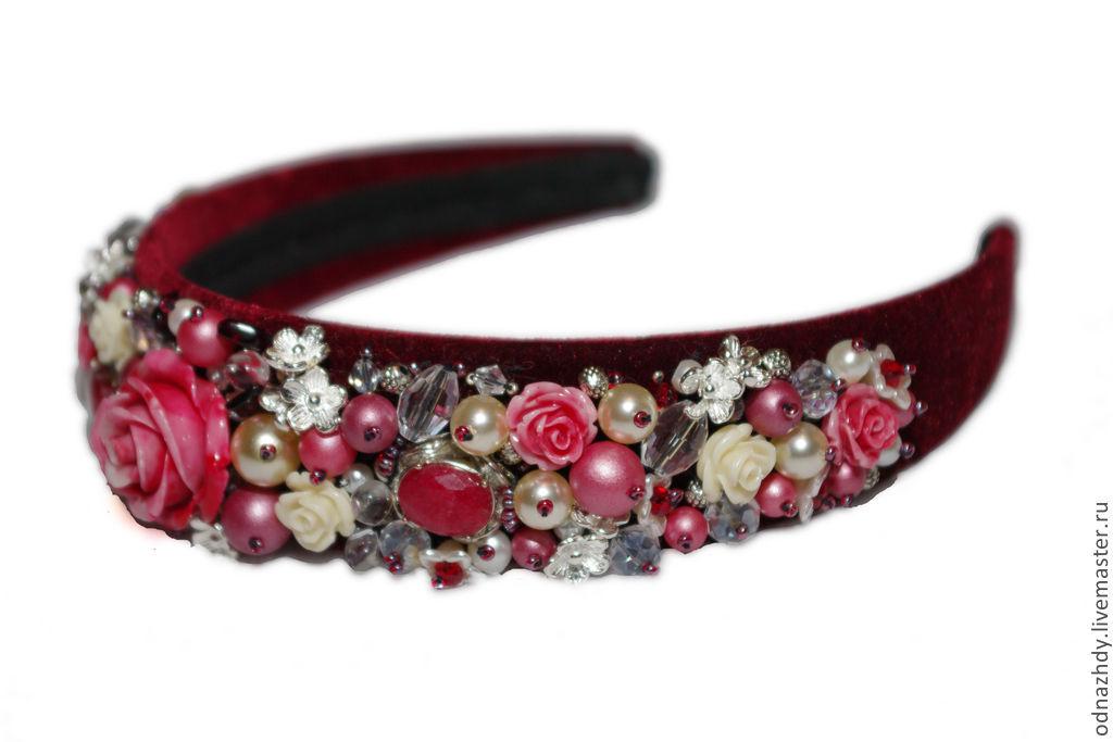 Tiaras & Headbands handmade. Livemaster - handmade. Buy Headband 'Carmen' in the style of D&G sold.Wedding