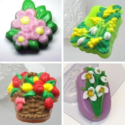 `Цветочная поляна` форма для мыла пластиковая