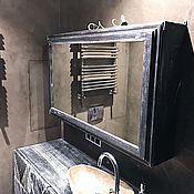 Для дома и интерьера ручной работы. Ярмарка Мастеров - ручная работа Зеркало с полками для ванной. Handmade.
