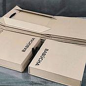 handmade. Livemaster - original item Folding box with logo, packaging for clothes, box, box. Handmade.