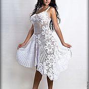 """Одежда ручной работы. Ярмарка Мастеров - ручная работа Сарафан """"Белые лилии"""". Handmade."""
