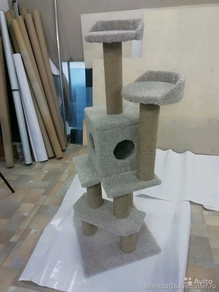 Аксессуары для кошек, ручной работы. Ярмарка Мастеров - ручная работа. Купить Комплекс для кошек. Handmade. Кот, домик для кота