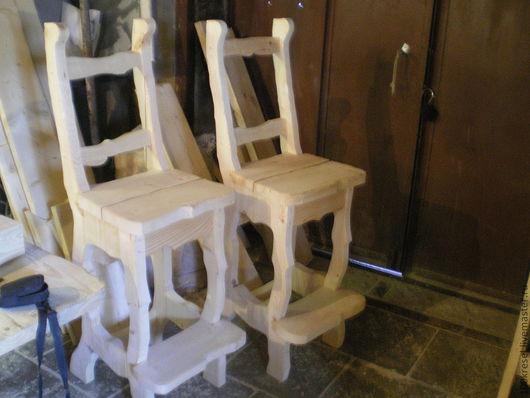 Быт ручной работы. Ярмарка Мастеров - ручная работа. Купить барные стулья. Handmade. Белый, барнные стулья, сосна