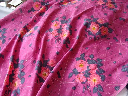 Шитье ручной работы. Ярмарка Мастеров - ручная работа. Купить Ткань крепдешин, винтаж, 240 х 88 см.. Handmade.