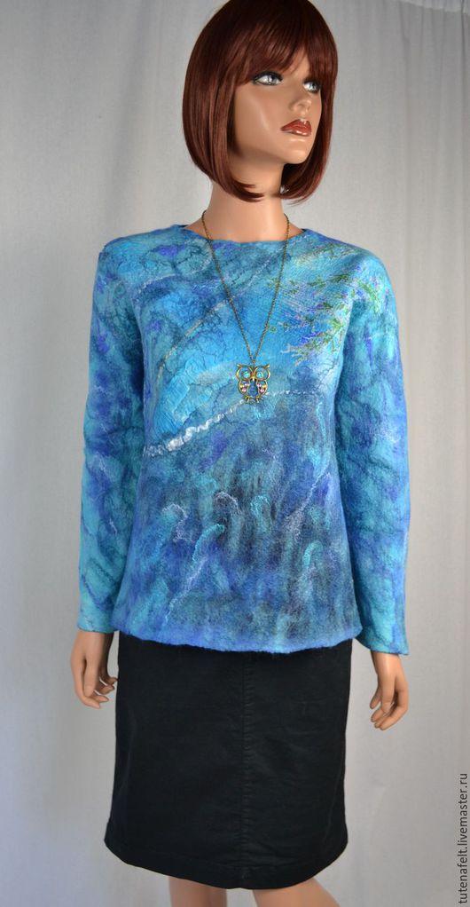 Валяный пуловер,свитер,кофта,джемпер