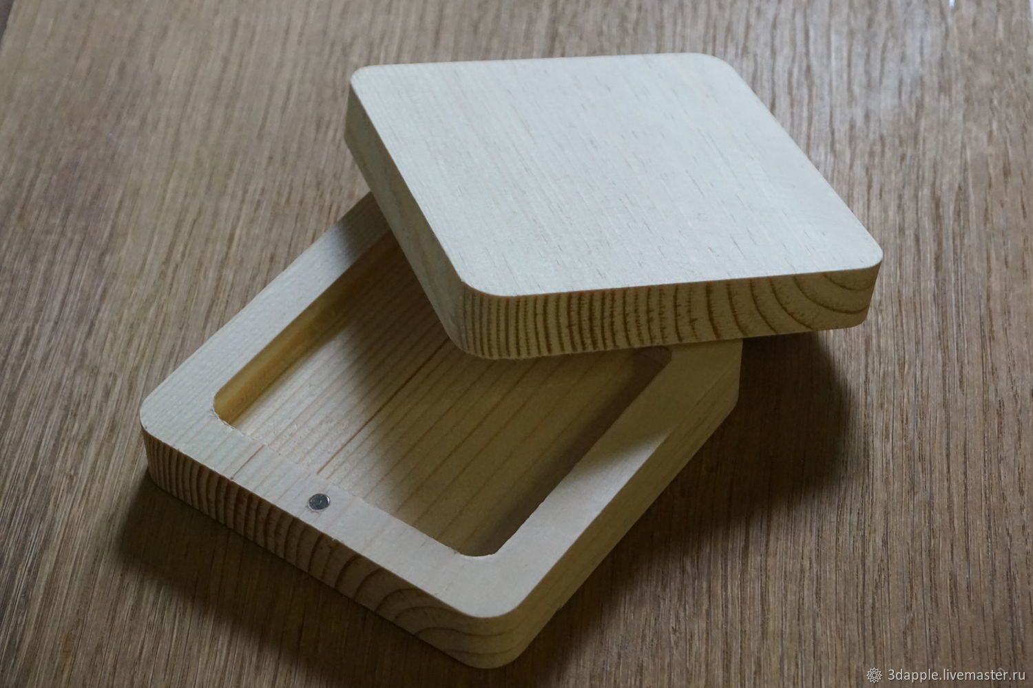 Simple gift box made of wood, Box1, Moscow,  Фото №1