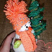Снеговики ручной работы. Ярмарка Мастеров - ручная работа Снеговики: Снеговик в шапочке. Подарок на новый год. Handmade.
