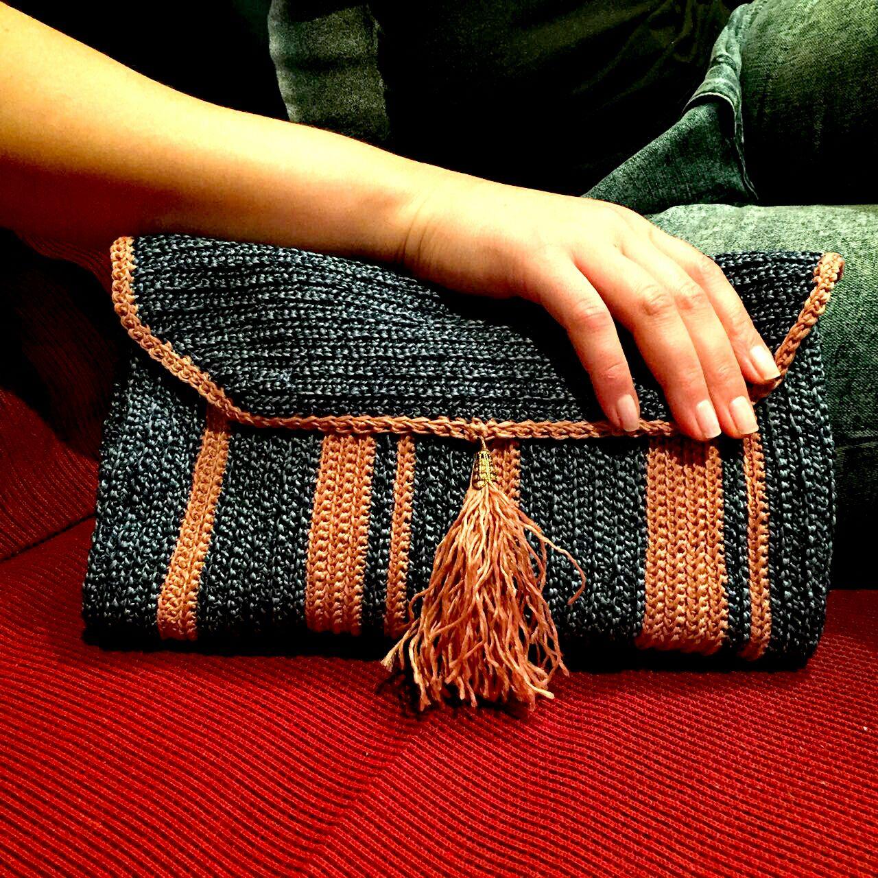 Вязание сумок клатчи крючком