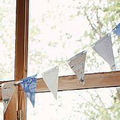 Подарки к праздникам ручной работы. Ярмарка Мастеров - ручная работа Бумажные флажки - гирлянда. Handmade.