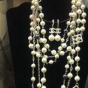 """Колье ручной работы. Ярмарка Мастеров - ручная работа Комплект украшений """"Chanel"""". Handmade."""