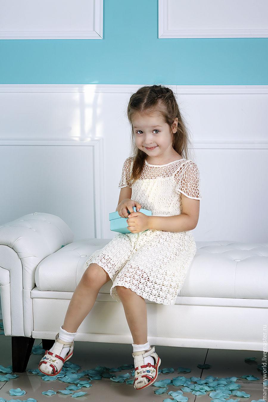 Платье для девочки из натурального шелка, Платья, Астрахань, Фото №1