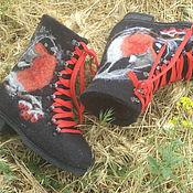 Ботинки ручной работы. Ярмарка Мастеров - ручная работа Ботинки валяные снегирь. Handmade.