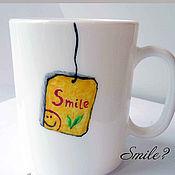 Посуда ручной работы. Ярмарка Мастеров - ручная работа Чай улыбка. Handmade.
