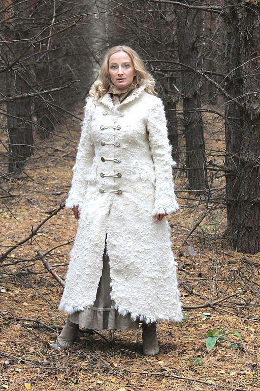 """Верхняя одежда ручной работы. Ярмарка Мастеров - ручная работа. Купить Зимнее пальто, анти-шинель """"Tenderness"""". Handmade. Белый"""