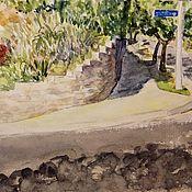 Картины ручной работы. Ярмарка Мастеров - ручная работа Картина Акварелью Лос-Анджелес. Handmade.