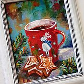 Картины и панно handmade. Livemaster - original item Picture in a frame Ginger cookies. Handmade.