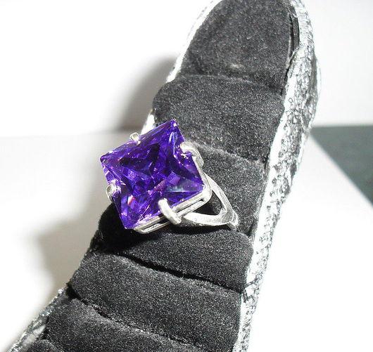 """Кольца ручной работы. Ярмарка Мастеров - ручная работа. Купить Кольцо """"Королевская ночь"""". Handmade. Кольцо, фиолетовый, фианит"""