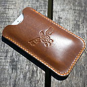 Сумки и аксессуары handmade. Livemaster - original item Iphone 6 case Horween Chromexcel Pull Up. Handmade.