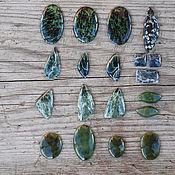 Материалы для творчества handmade. Livemaster - original item Ofit, seraphinite, jade cabochons. Handmade.