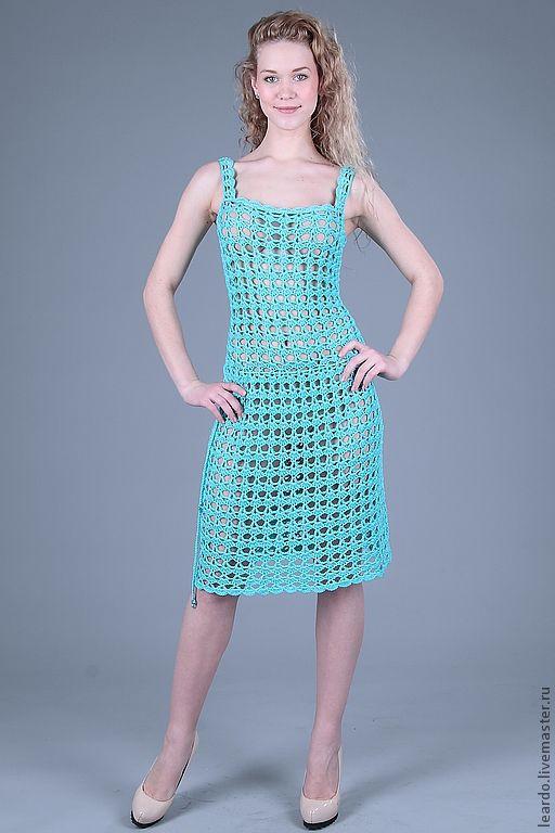 Платья ручной работы. Ярмарка Мастеров - ручная работа. Купить Платье, арт. 12-3-1. Handmade. Голубой
