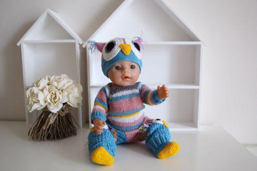Одежда для кукол ручной работы. Ярмарка Мастеров - ручная работа. Купить Вязанный комплект на куклу.. Handmade. Одежда, фотосессия